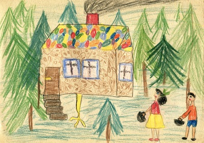 Hansel and Gretel kids drawing